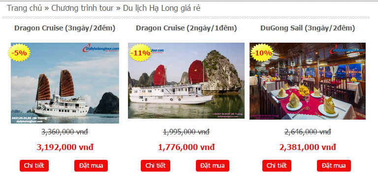 To book a Ha Long Bay tour, tourists please take steps following  this guideline